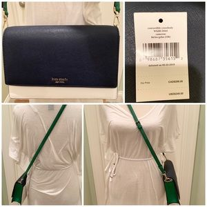 Convertible crossbody Kate spade beige green bean